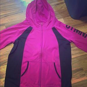 Hot pink/purple justice gymnast jacket